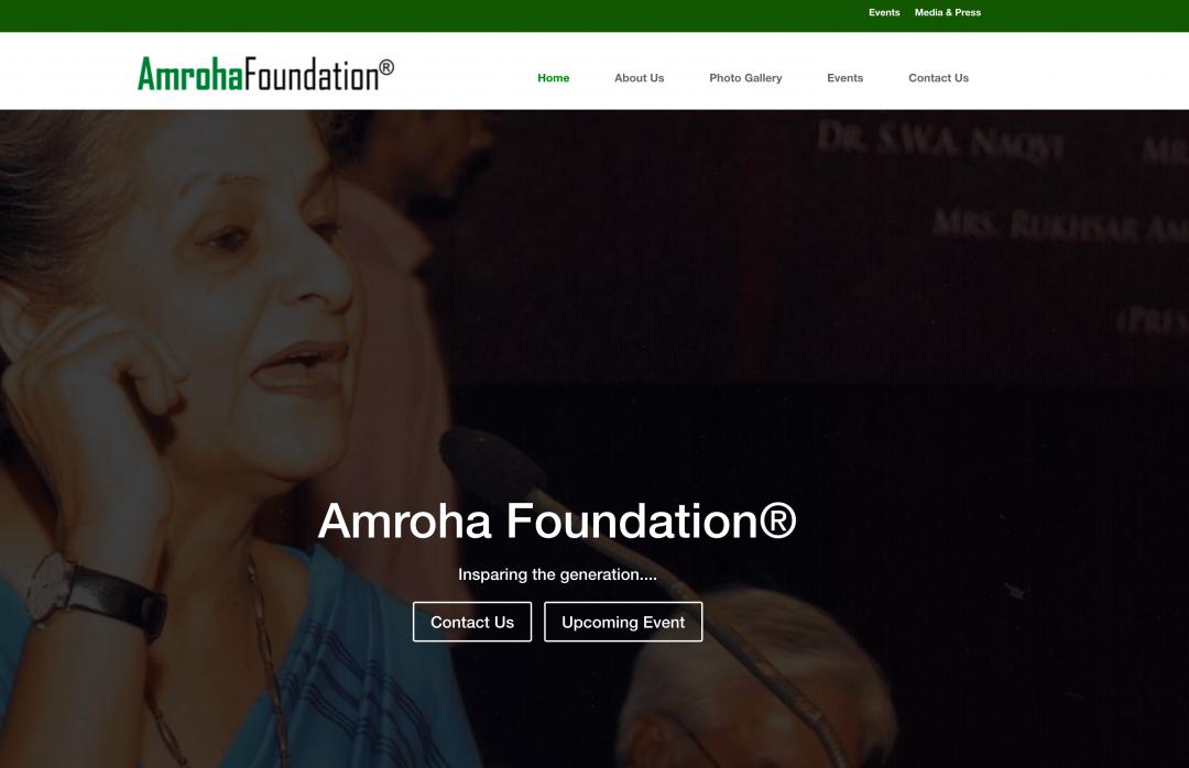 Amroha Foundation Reg.
