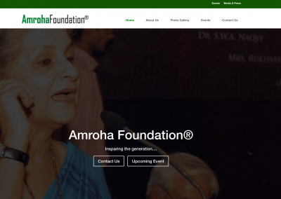 Amroha Foundation Reg.